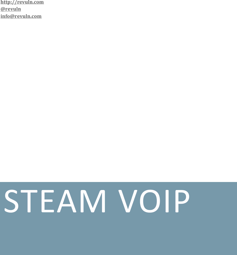 Steam Voip Security